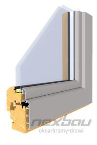 Drewniano-aluminiowy profil Softline