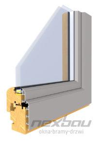 Drewniano-aluminiowy profil Retro