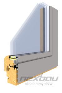 Drewniano-aluminiowy profil Quadrat FB